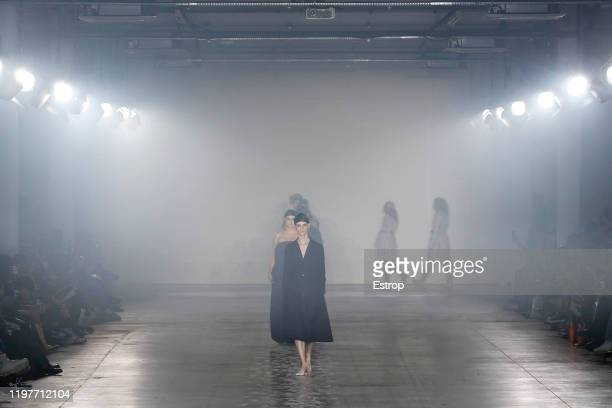 January 5: Atmosphere at the Art School show during London Fashion Week Men's at the BFC Show Space on January 5, 2020 London, England.