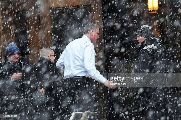 January 6 New York NY USA Current NYC Mayor and his wife are attending the ceremony Mourners have gathered at Loyola church in upper Manhattan New...