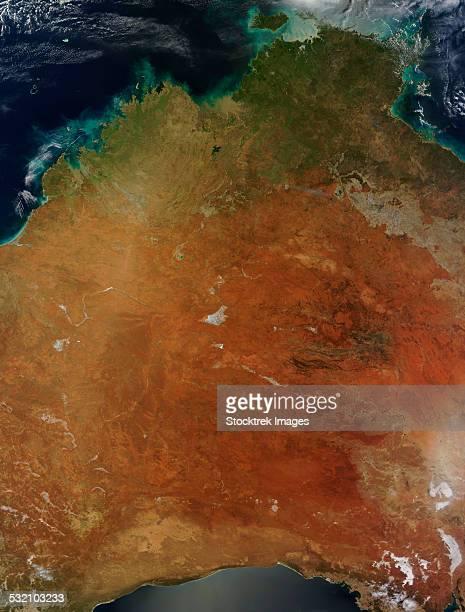January 8, 2014 - Satellite view of Central Australia.