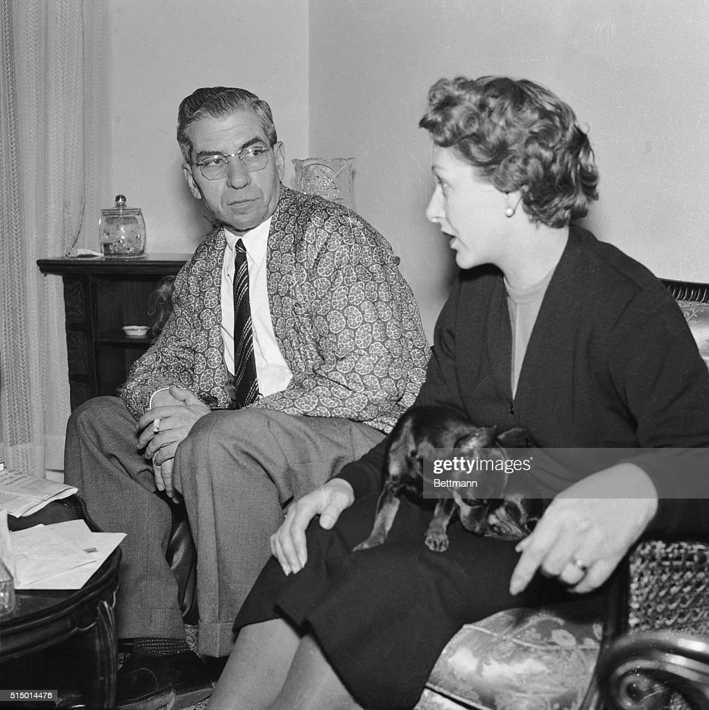 Gangster Lucky Luciano and Wife in Italy : News Photo