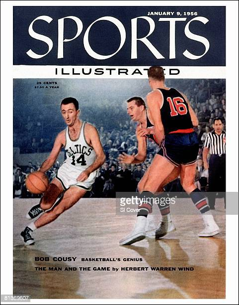 January 9 1956 Sports Illustrated via Getty Images Cover Basketball Boston Celtics Bob Cousy in action vs Fort Wayne Pistons Boston MA