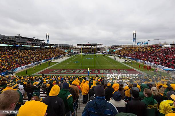 North Dakota State Bison fans fill the stands before the FCS Championship game at Toyota Stadium in Frisco Texas