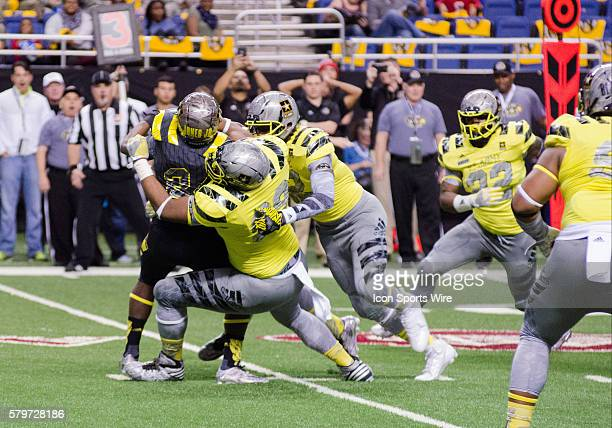 Raekwon Davis with the tackle during the US Army AllAmerican Bowl at the Alamo Dome in San Antonio Texas