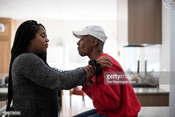 Dana Gasby left interacts with her mother B Smith in their East Hampton home on Long Island New York on Wednesday January 9 2019 Early onset...