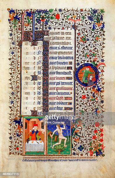 'January' early 15th century The man sitting at the table feasting is Janus the twofaced Roman god keeper of the gate of heaven for whom the month is...