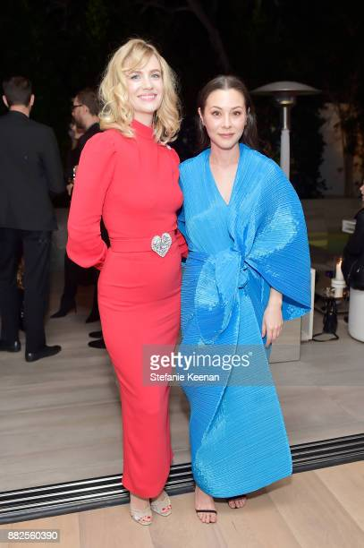January Jones and China Chow attend Nicholas Kirkwood and China Chow Host A Dinner For Matches Fashion on November 29 2017 in Los Angeles California
