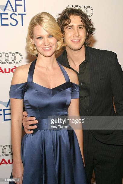January Jones and Josh Groban during AFI Fest 2005 Centerpiece Gala Presentation of 'The Three Burials of Melquiades Estrada' Arrivals in Los Angeles...