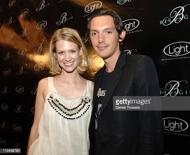 January Jones and Lukas Haas during LIGHT Nightclub Four Year Anniversary VIP Red Carpet Reception at Caramel Lounge at The Bellagio Hotel and Casino...