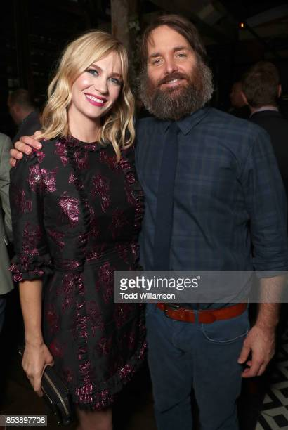 January Jones and Will Forte attend the FOX Fall Party at Catch LA on September 25 2017 in West Hollywood California