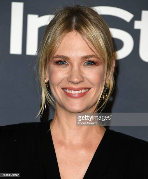 January Jones arrive at the 3rd Annual InStyle Awards at The Getty Center on October 23 2017 in Los Angeles California