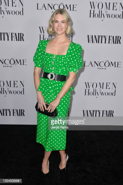 January Jones arrives at Vanity Fair and Lancôme Women In Hollywood Celebration at Soho House on February 06 2020 in West Hollywood California