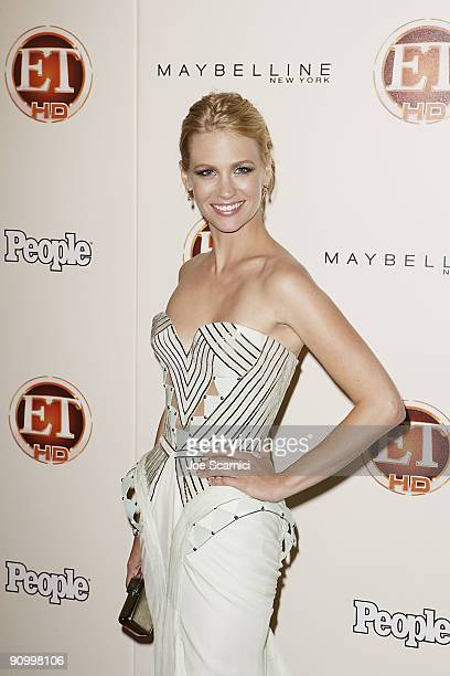 January Jones arrives at Vibiana for the 13th Annual Entertainment Tonight and People magazine Emmys After Party on September 20, 2009 in Los...