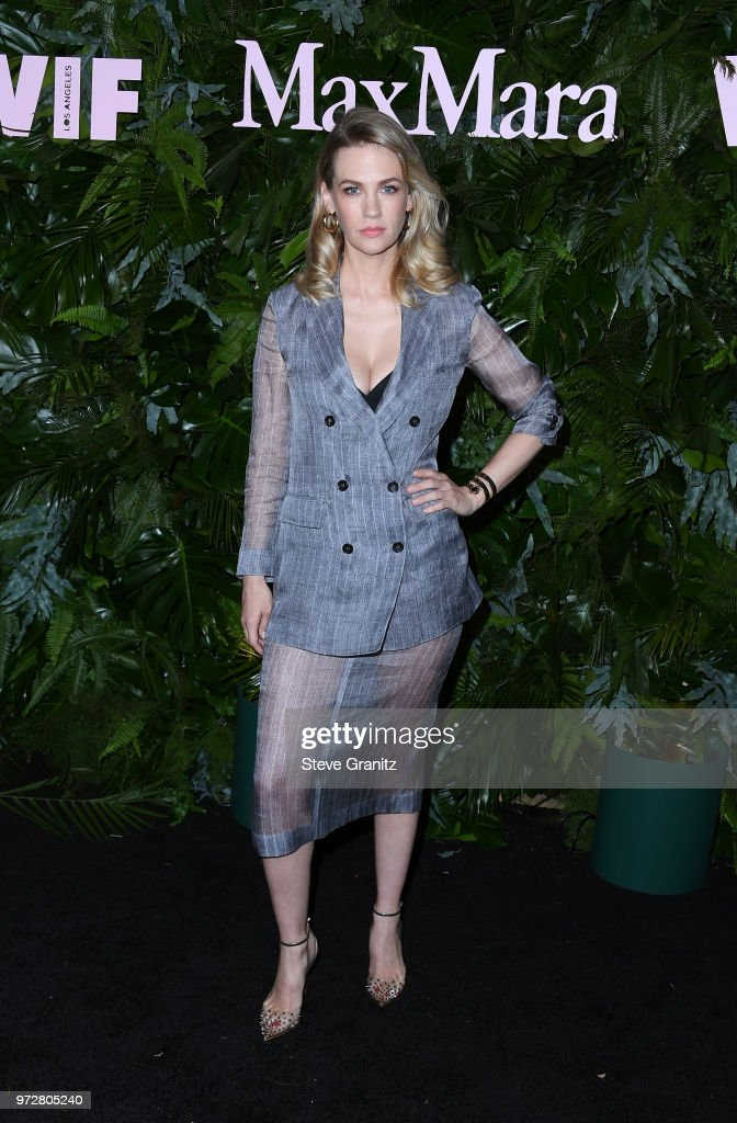January Jones attends Max Mara WIF Face Of The Future at Chateau Marmont on June 12, 2018 in Los Angeles, California.