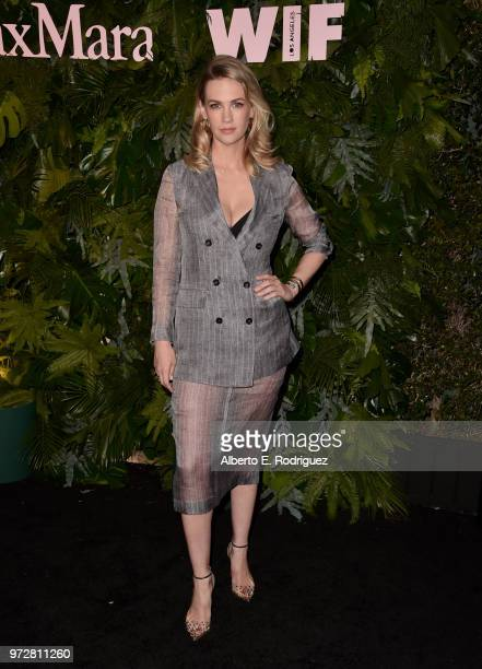 January Jones attends Max Mara WIF Face Of The Future at Chateau Marmont on June 12 2018 in Los Angeles California