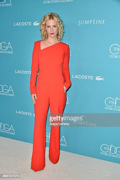 January Jones attends the 17th Costume Designers Guild Awards at The Beverly Hilton Hotel on February 17 2015 in Beverly Hills California