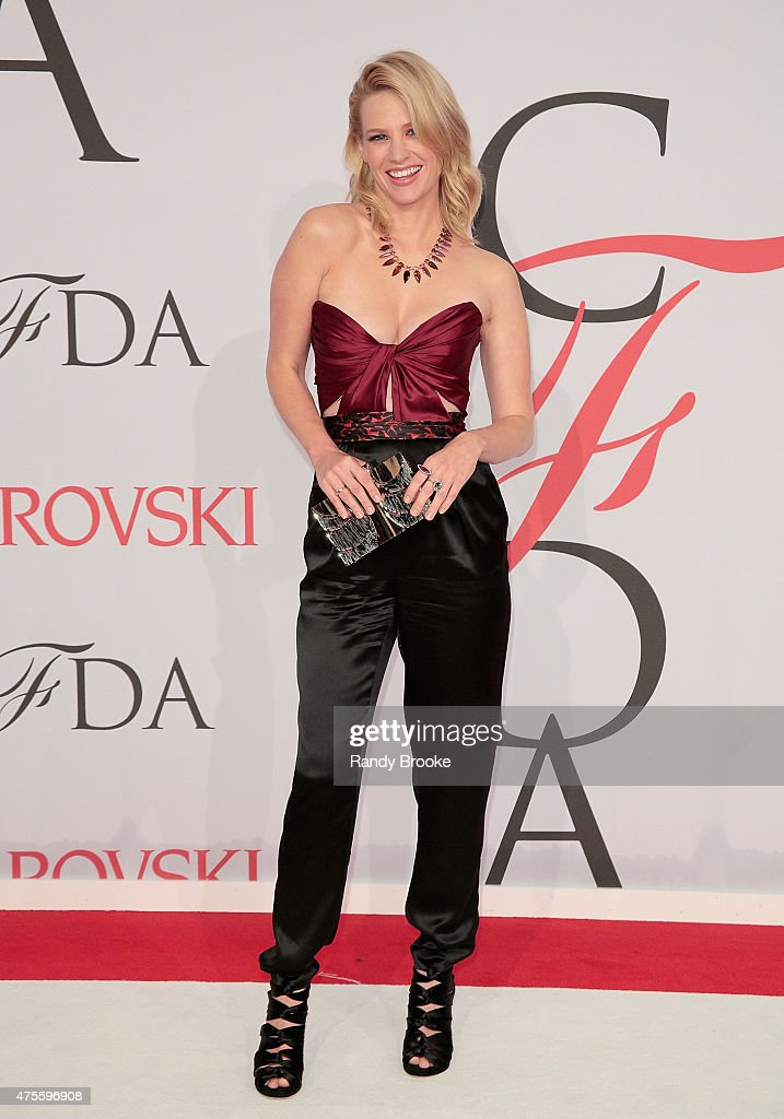 January Jones attends the 2015 CFDA Fashion Awards at Alice Tully Hall at Lincoln Center on June 1, 2015 in New York City.