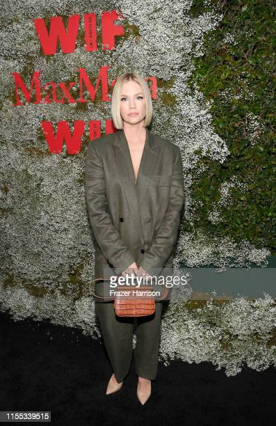 January Jones attends the 2019 Women In Film Max Mara Face Of The Future celebrating Elizabeth Debicki at Chateau Marmont on June 11 2019 in Los...