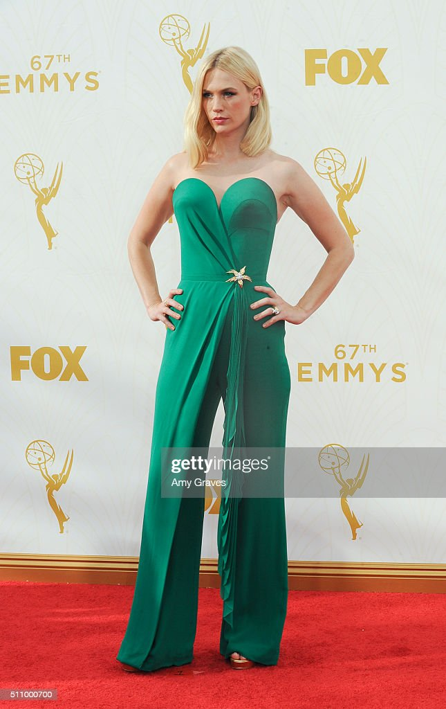 January Jones attends the 67th Annual Primetime Emmy Awards on September 20, 2015 in Los Angeles, California.
