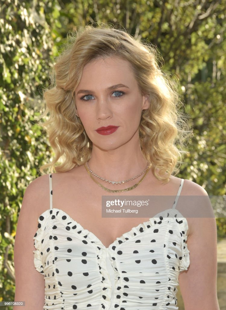 January Jones attends the Beats By Dre for Violet Grey party on July 11, 2018 in West Hollywood, California.