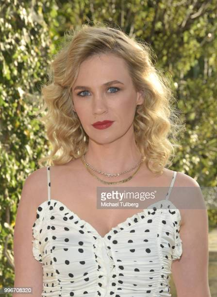 January Jones attends the Beats By Dre for Violet Grey party on July 11 2018 in West Hollywood California