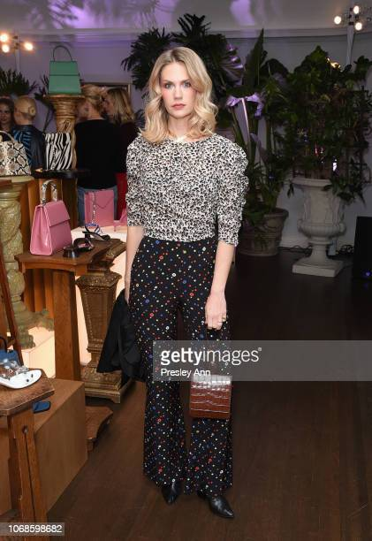 January Jones attends the BY FAR Party hosted by HAIM and Maya Rudolph at Chateau Marmont on December 4 2018 in Los Angeles California