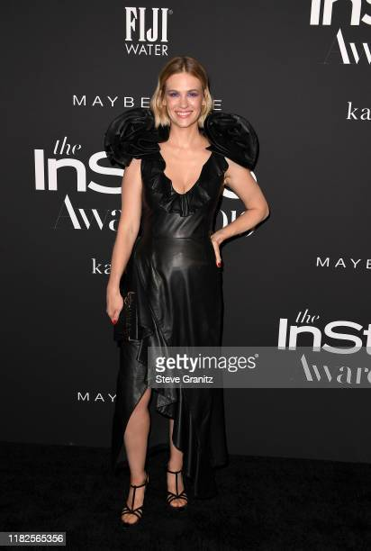 January Jones attends the Fifth Annual InStyle Awards at The Getty Center on October 21, 2019 in Los Angeles, California.