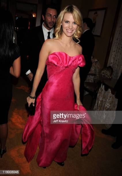 January Jones attends the HBO after party for the 14th Annual Screen Actor's Guild Awards at the Shrine Auditorium on January 27 2008 in Los Angeles...