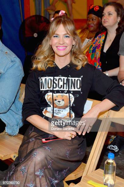 January Jones attends the Moschino Spring/Summer 19 Menswear and Women's Resort Collection at Los Angeles Equestrian Center on June 8 2018 in Burbank...