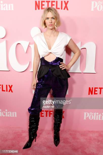 January Jones attends the premiere of Netflix's The Politician at DGA Theater on September 26 2019 in New York City