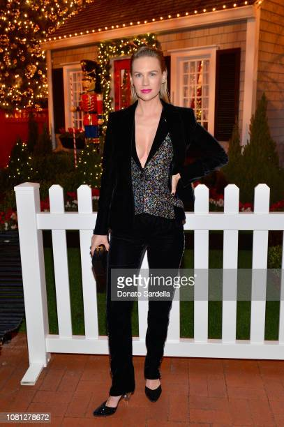 January Jones attends the Tamara Mellon Palisades Village Opening Party at Blue Ribbon Sushi on December 11 2018 in Pacific Palisades California
