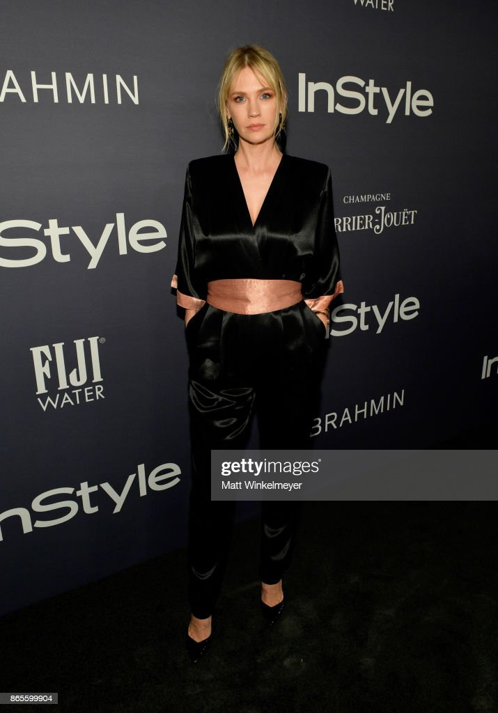 January Jones attends the Third Annual 'InStyle Awards' presented by InStyle at The Getty Center on October 23, 2017 in Los Angeles, California.