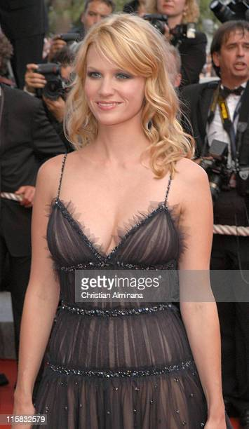 January Jones during 2005 Cannes Film Festival Closing Ceremony and 'Chromophobia' Screening at Palais de Festival in Cannes France