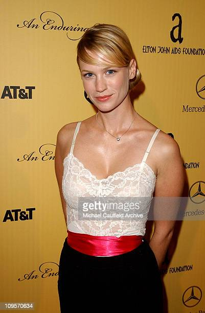 January Jones during 3rd Annual An Enduring Vision Fundraiser Inside and Show at Pelican Hill Golf Club in Newport Beach California United States