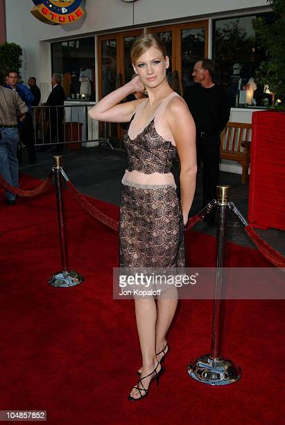 January Jones during 'American Wedding' World Premiere at Universal Studios Cinema in Universal City California United States
