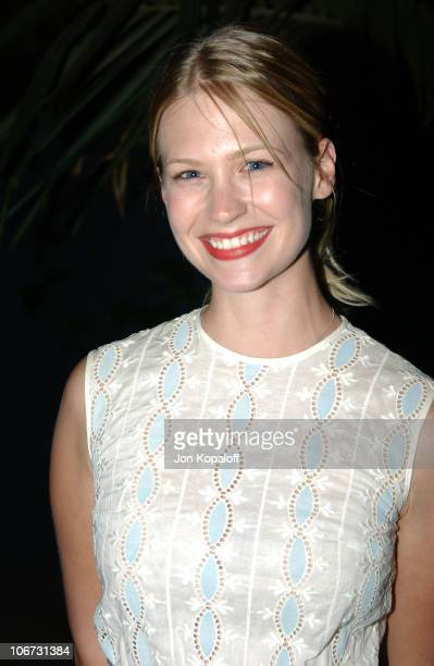 January Jones during PlayStation 2 Bungalow Beach Party at Viceroy Hotel in Santa Monica California United States