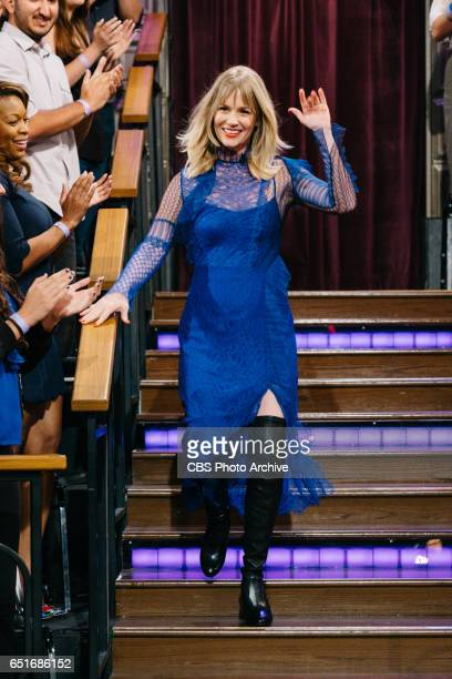 January Jones during 'The Late Late Show with James Corden' Wednesday March 8 2017 On The CBS Television Network