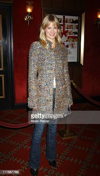 January Jones in Chanel jacket during 'Love Actually' New York Premiere at The Ziegfeld Theatre in New York City New York United States
