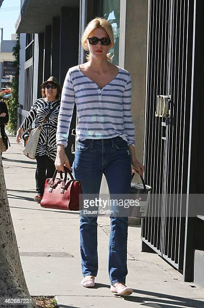 January Jones is seen buying paint West Hollywood on January 14 2014 in Los Angeles California