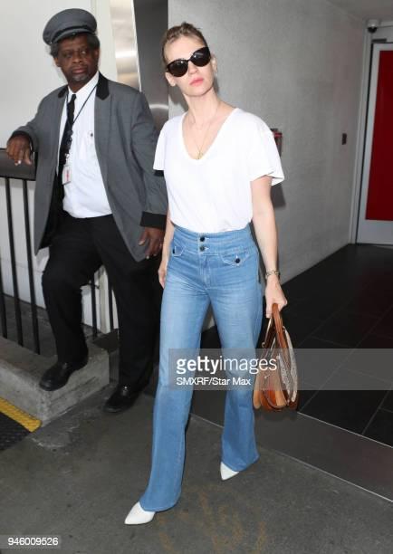 January Jones is seen on April 13 2018 in Los Angeles CA
