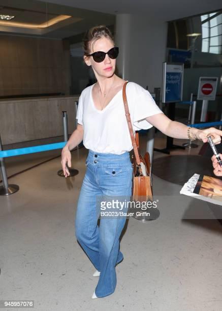 January Jones is seen on April 13 2018 in Los Angeles California