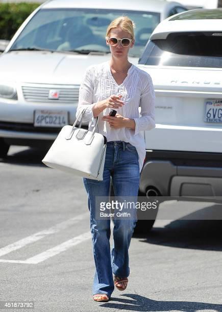 January Jones is seen on July 08 2014 in Los Angeles California