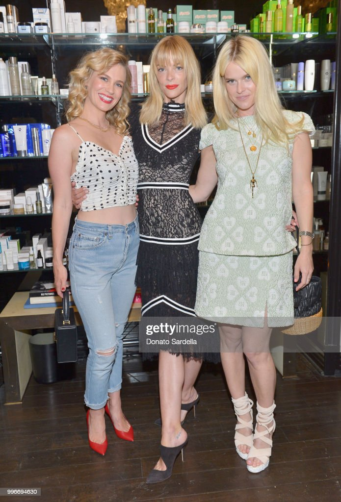 January Jones, Jaime King and Alice Eve attend Beats by Dre for VIOLET GREY Party on July 11, 2018 in Los Angeles, California.