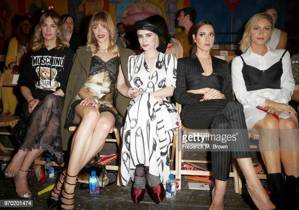 January Jones Jaime King Emma Roberts Tallulah Willis and Aubrey Plaza attend Moschino Spring/Summer 19 Menswear and Women's Resort Collection at the...