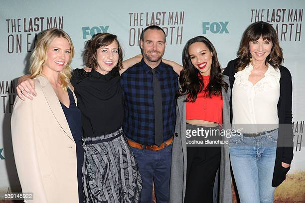 January Jones Kristen Schaal Will Forte Cleopatra Coleman and Mary Steenburgen arrive at the Awardsline Screening For FOX's The Last Man On Earthat...