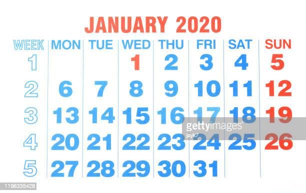 january month calendar - 一月 ストックフォトと画像