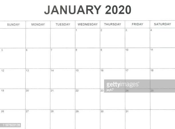 january month calendar - week stock pictures, royalty-free photos & images