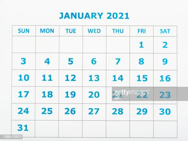 january month calendar - january stock pictures, royalty-free photos & images
