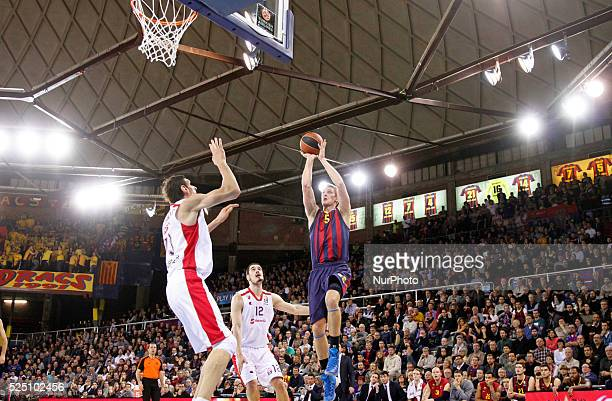 Justin Doellman and Boban Marjanovic in the match between FC Barcelona and Crvena Zvezda Telekom Belgrade for the week 4 of the Top 16 of the...