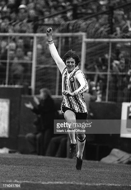 January1980 Southampton v Manchester City, Mick Channon of Southampton wheels away after scoring.