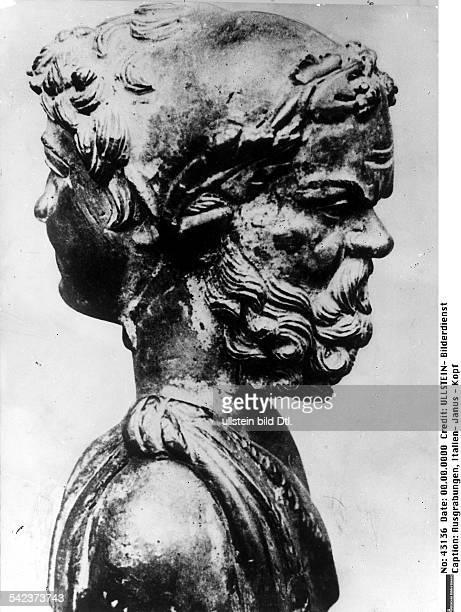 Janus Kopf ein Fund an den Ufern des NemiSeeswahrscheinlich von einem Schiff desCaligula stammendum 40 nChr